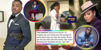 NAM1 spent Menzgold money on Joyce Blessing & Toosweet-Twitter User