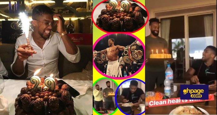 Boxer Anthony Joshua in smiles as he celebrates his 29th birthday