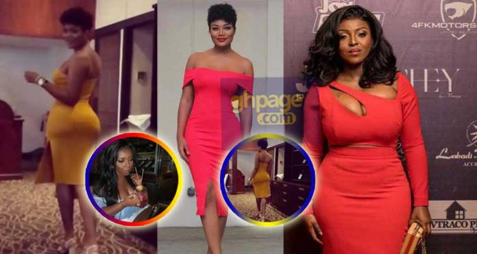 Yvonne Okoro exposes the source of Sandra Ankobiah's new huge booty