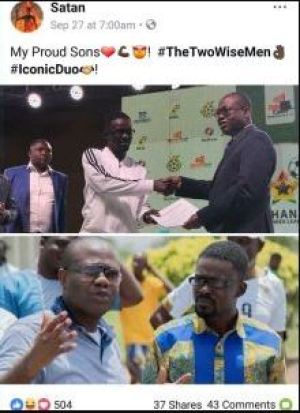 """Satan"" called NAM1 and Kwesi Nyantakyi his proud sons"
