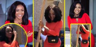 Serwaa Amihere shows her fufu pounding skills