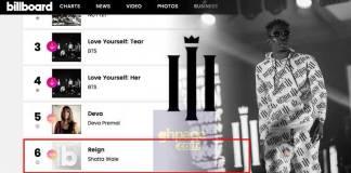 "Shatta Wale's ""REIGN"" album makes it into Billboard's World albums chart"
