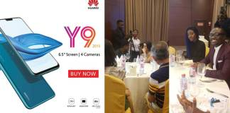 Huawei launches Huawei Y9 smartphone (2019 model) in Accra
