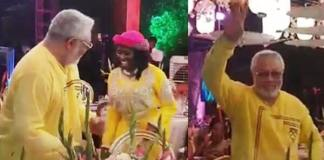 J.J Rawlings exhibit rare dancing skills at wife's birthday party