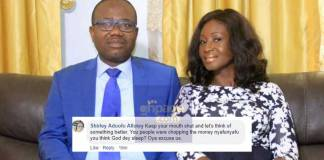 Social media users warn Kwesi Nyantakyi's wife to stay off his case
