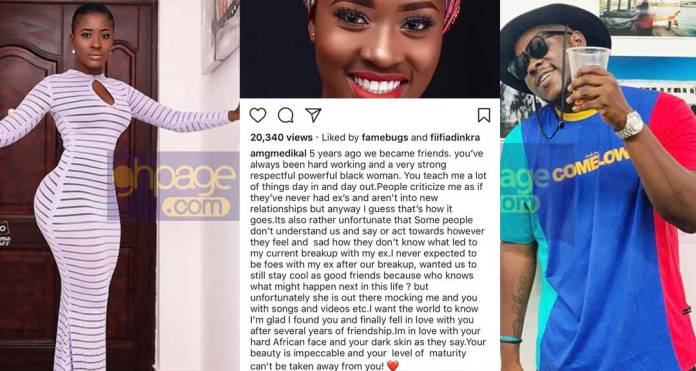 Medikal explains why he fell in love with Makafui after 5yrs of friendship