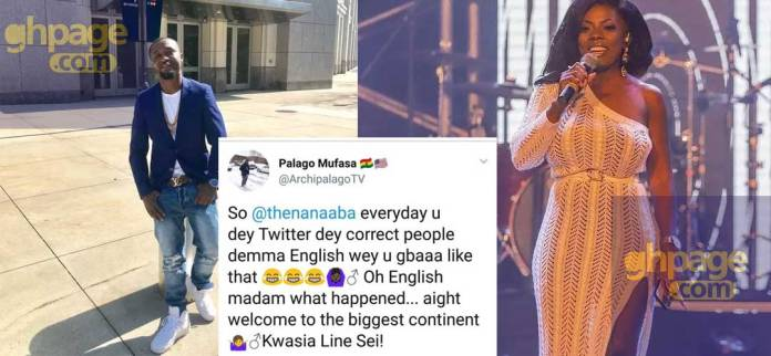 Archipalago mocks Nana Aba Anamoah after she