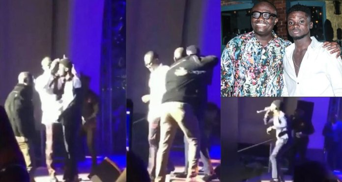 Bola Ray sprays cash on Kuami Eugene over his emotional stage performance