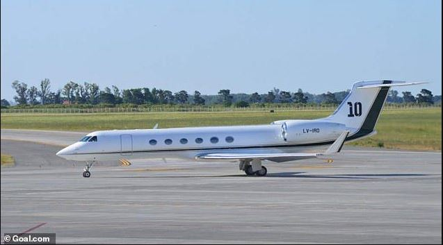 Photos of Lionel Messi's newly acquired £12million customized private jet