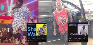 Shatta Wale beats Stonebwoy with 6M streams as against Stonebwoy's 4M streams on Spotify