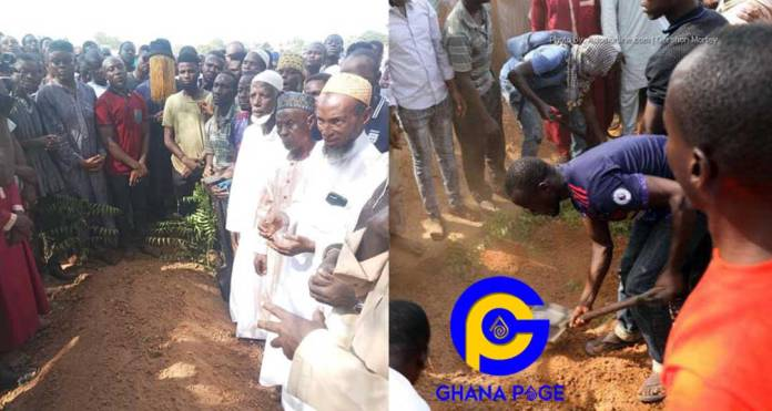 Heartbreaking photos from the burial of Ahmed Hussein-Suale pop up online [SEE]