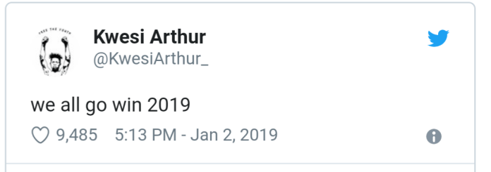 Kwesi Arthur tweet screenshot