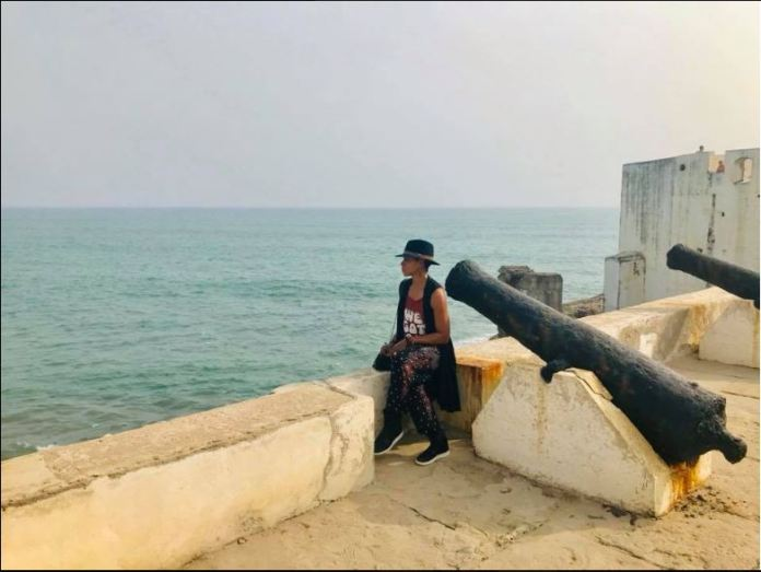 'They took us away to never return, but we did' - Hollywood actress cries after a visit to the Cape Coast Dungeon