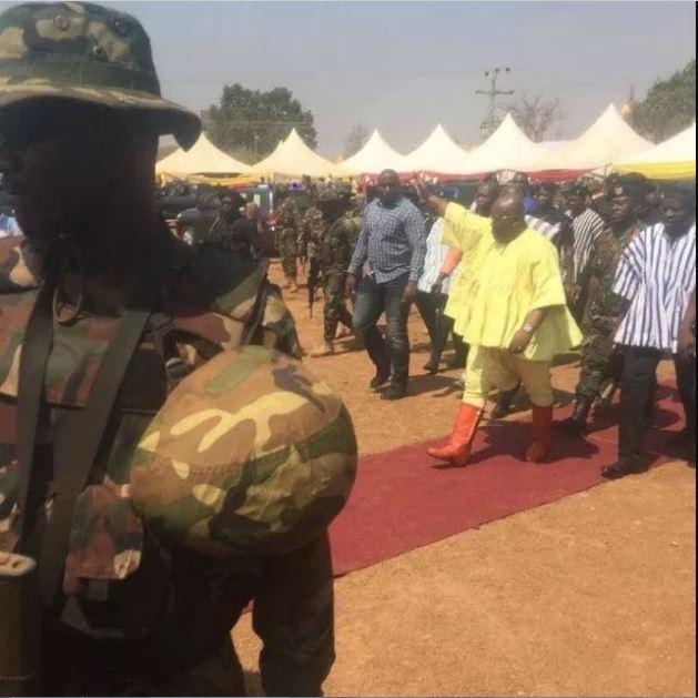 Nana Addo's 'Gringo' dressing to Ya'Naa's coronation goes viral on internet