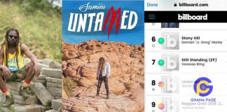 "Samini's ""Untamed"" album also makes it to the Billboard Charts"