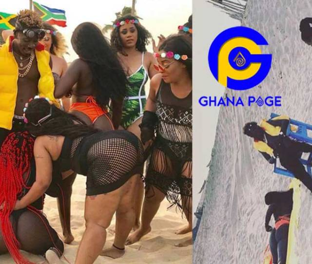 Big Booty Girls Of All Colors Turn Up For Shatta Wales Island Video Shoot