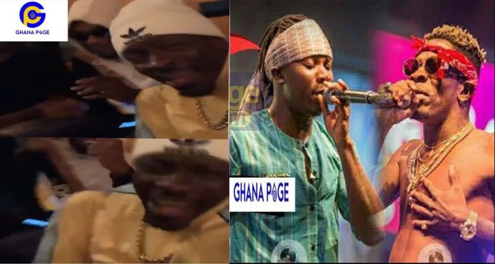 Shatta Wale boogies to Stonebwoy's 'Top Skanka' song at a night club
