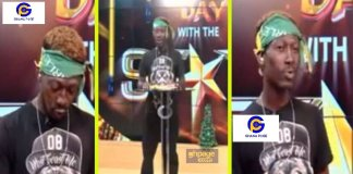 Supa aka Ghana 2pac reads sports news on UTV day with the stars