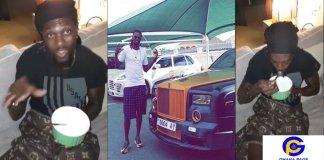 Video of rich Adebayor drinking gari soakings causes stir on social media