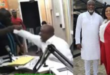 Video: Hopeson Adorye hits Kwaku Boahen's chest on live radio-threatesn to beat him