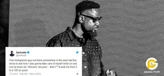 Sarkodie rants on twitter over a question