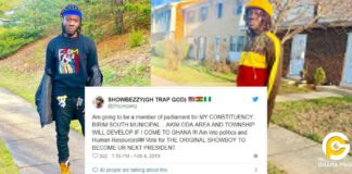 Showboy promises to contest for MP in Ghana