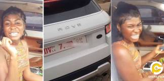 Yaa Jackson spotted in town riding a brand new Range Rover