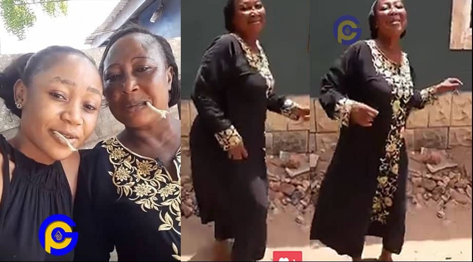 Akuapem Poloo's mother jams to her daughter's latest single