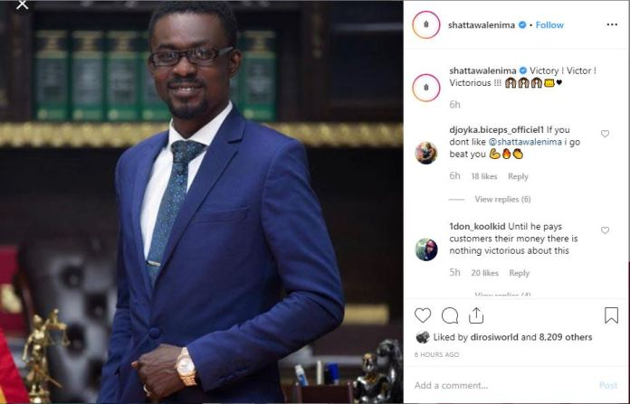 Capture - How Shatta Wale reacted after the release of NAM 1