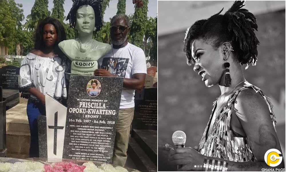Family Ebony Reigns Osu Cemetery - Family shares sad photos of Ebony Reigns finished tomb at Osu cemetery