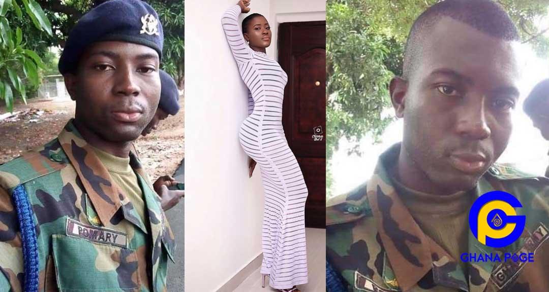 Fella Makafui soldier ex boyfriend 2 - Photos of Fella Makafui's soldier ex-boyfriend she dumped pops up