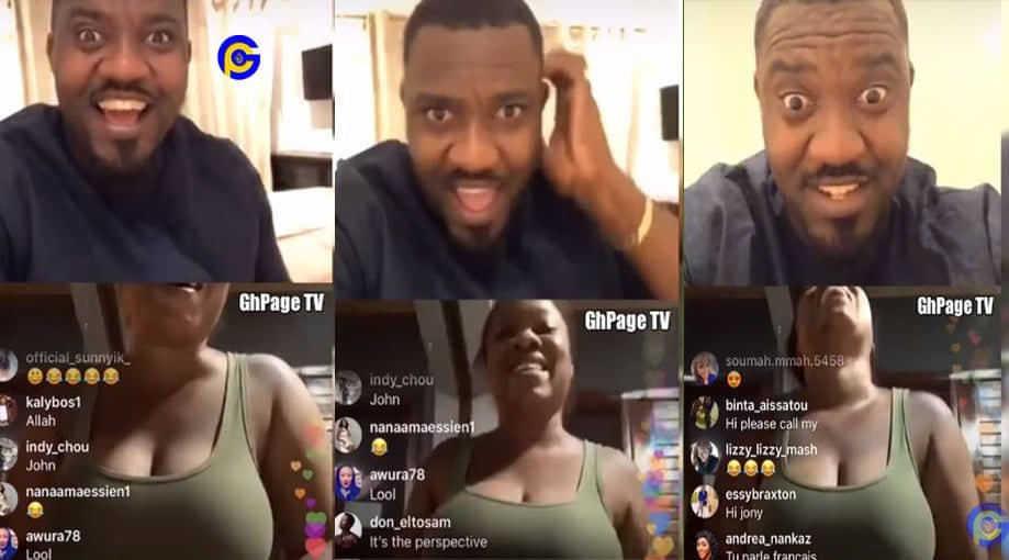 JOHN DUMELO MOESHA - John Dumelo on insta-live with Moesha, talks about her breast