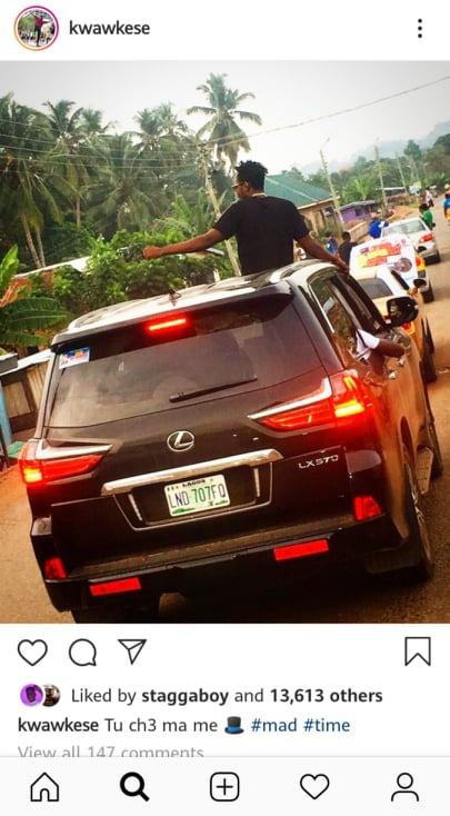 Kwaw - Social media users troll Kwaw Kese over his photo caption