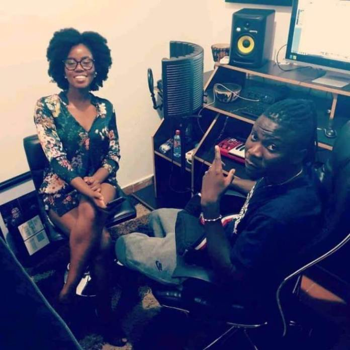 Mzvee 2 - Mzvee hits the studio to record with Stonebwoy