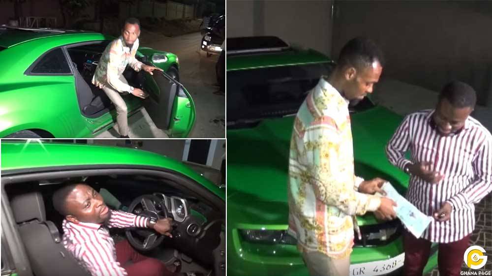 Obofour gifts bro sammy camaro worth 3.2billion - Brother Sammy receives a Camaro car worth GHC 3.2 billion from Rev. Obofour