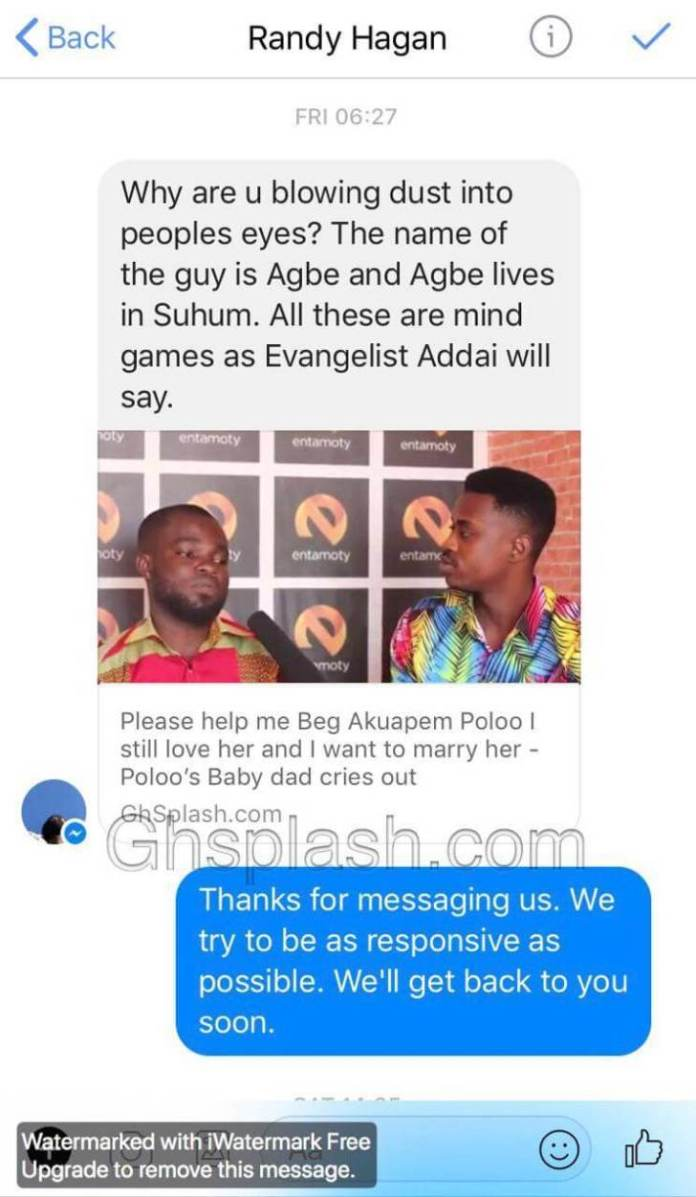 Poloo 1 - Alleged baby daddy of Akuapem Poloo's son exposed