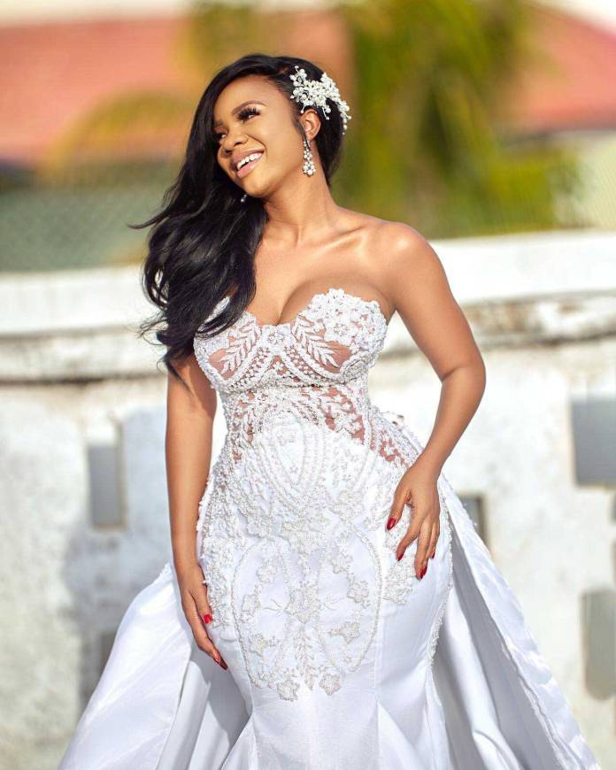 Serwaa Amihere wedding photo - New bride? Serwaa Amihere releases a gorgeous wedding photo