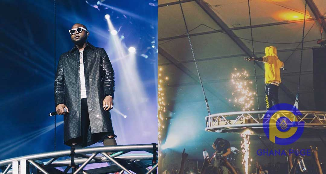 Shatta Wale Davido - 3Music:Davido mocks Shatta Wale for copying his O2 concert entry
