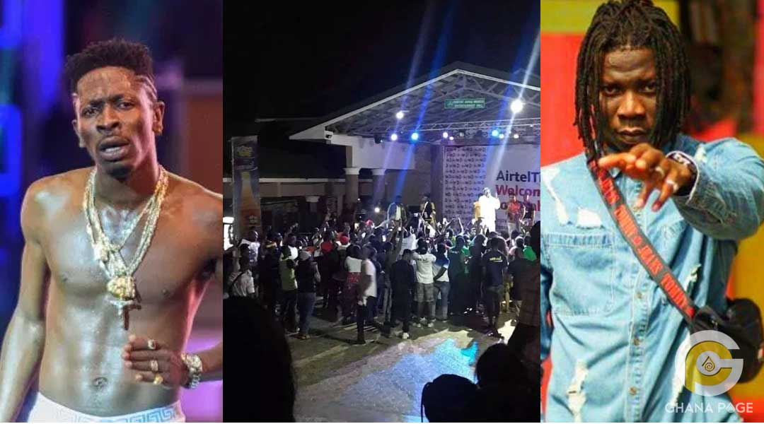 Shatta Wale Stonebwoy 1 - Shatta Wale performed in front of 32 fans and not Stonebwoy