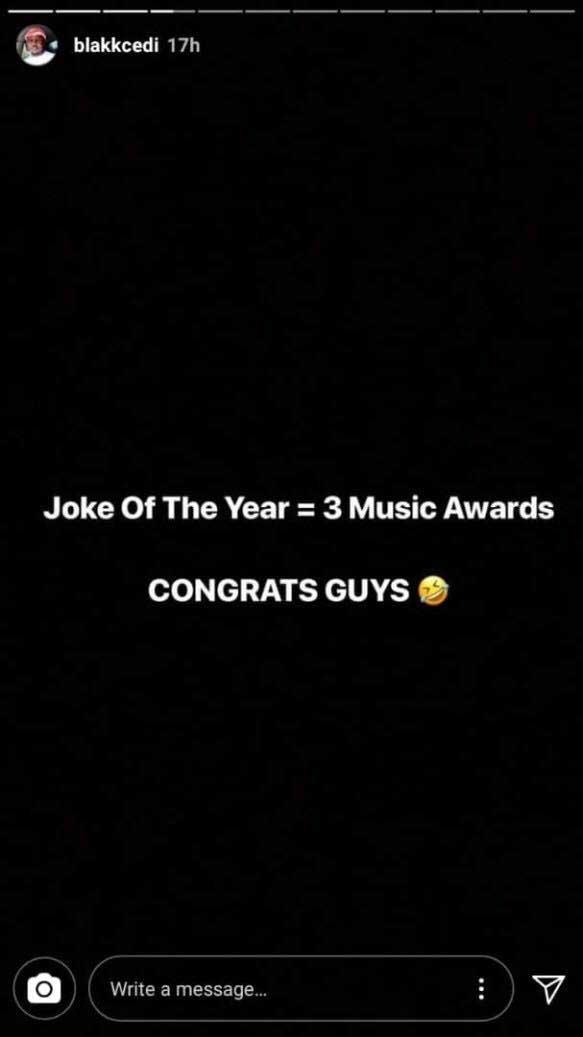 Stonebwoy Blakk Cedi Attacks 3 Music 1 - 3 Music Awards is a joke – Stonebwoy's manager attacks