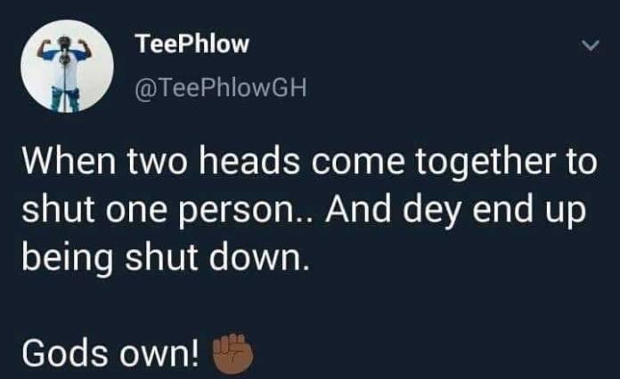 Teephlow shade Strongman Sarkodie - God has shut them down-TeePhlow teases Sarkodie and Strongman