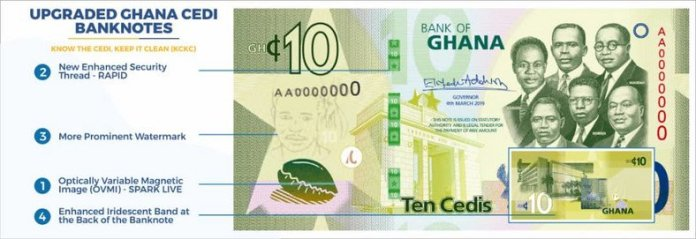 Bank of Ghana releases upgraded Cedi notes