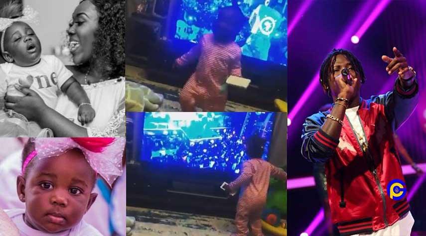 stonebwoy daughter jidula - Stonebwoy's daughter priceless reaction when she saw him on tv