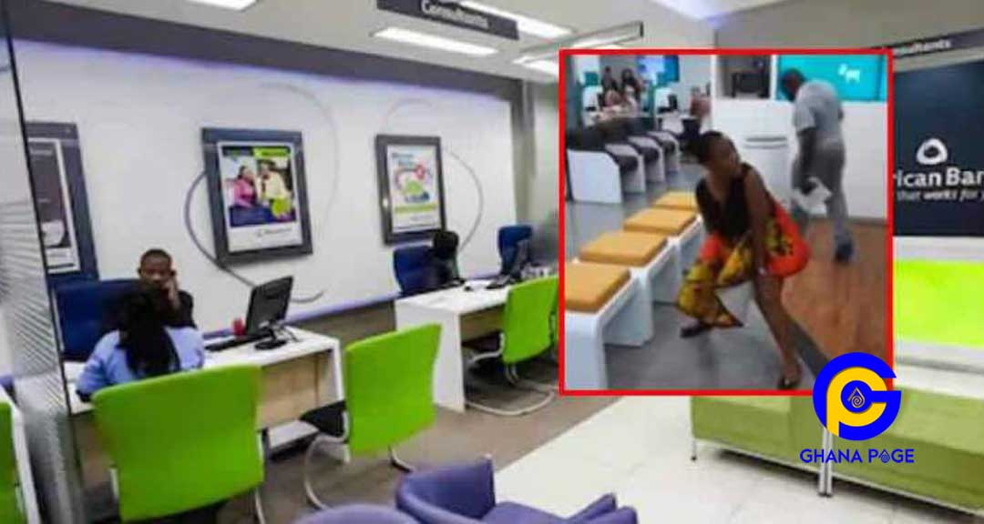 Watch: Angry woman urinates in the middle of a banking hall