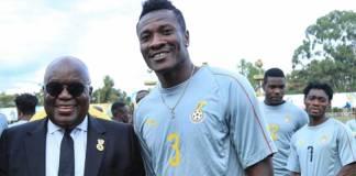 Nana Addo and Asamoah Gyan