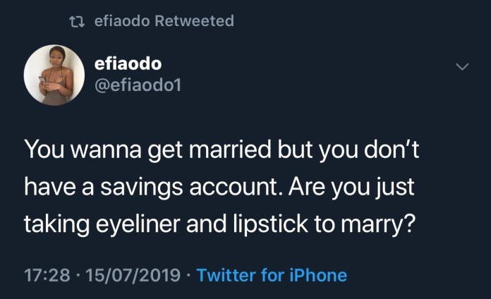 Marry a woman with a savings account, forget the make-up ones – Efia Odo 2