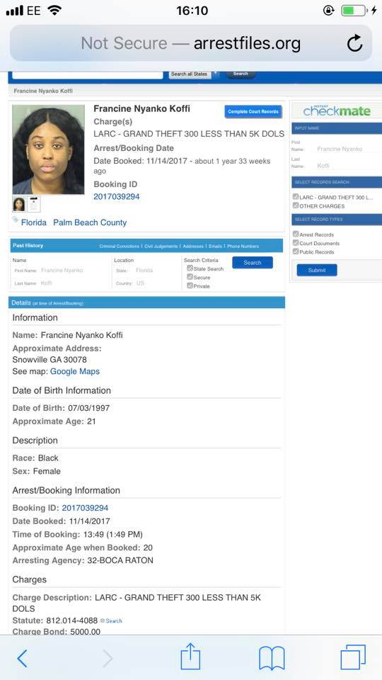 Fantana Was Arrested In United States
