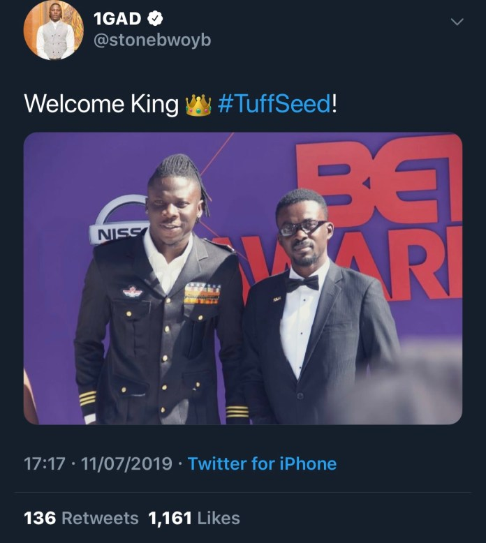 Stonebwoy NAM1 1 - Stonebwoy sends NAM1 a welcome back home message