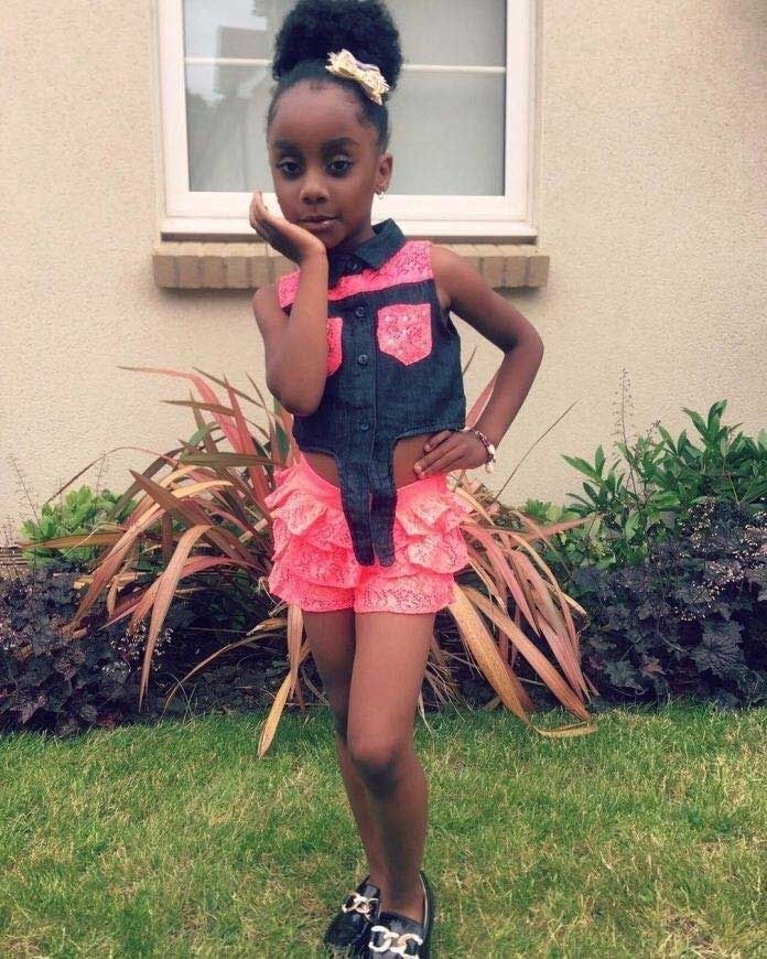 Beautiful Photos Of Asamoah Gyan's Daughter As She Celebrates Her 5th B'day Today