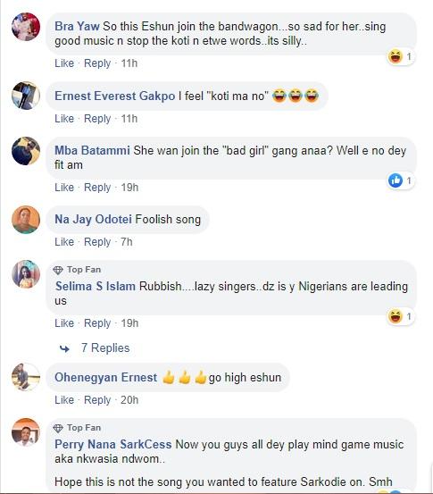 Social media users lambast 'good girl' eShun for releasing profane song 5